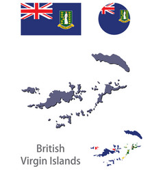 Country british virgin islands vector