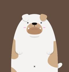 cute big fat Bulldog vector image