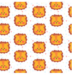 Cute seamless pattern for children with lions vector