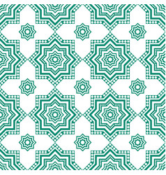 decorative arabian pattern green seamless arabic vector image