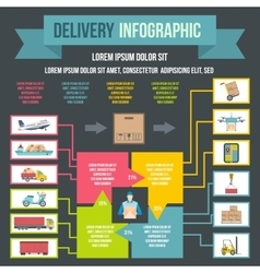 Delivery infographic flat style vector image