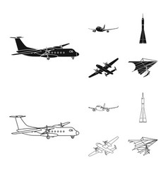 design of plane and transport logo vector image