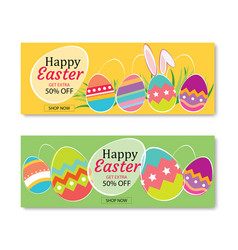 easter sale banner template background vector image