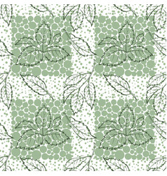 Elm leaves seamless vector