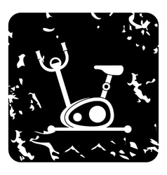 Exercise bicycle icon grunge style vector image