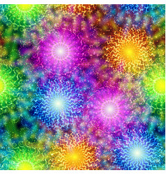 Fireworks seamless pattern vector
