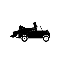 Flat icon in black and white style bride groom vector