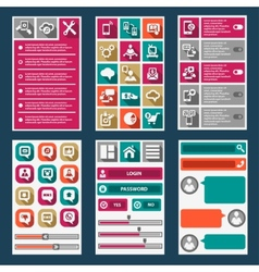 flat mobile interface vector image vector image