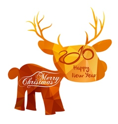 Happy new year and Merry Christmas with vector image