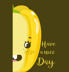 Have a nice day card with vegetable cartoon vector