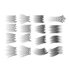 horizontal and curved motion lines vector image