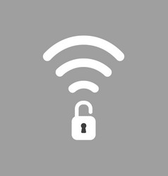 Icon concept of wireless wifi symbol with opened vector