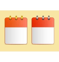 Icons of calendar red color in two variants vector