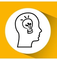 Idea bulb creativity vector