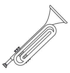 Isolated trumpet instrument design vector