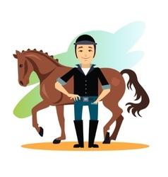 Jockey Design Concept Set vector image