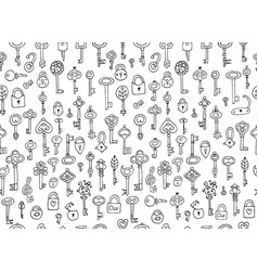 Keys collection seamless pattern for your design vector