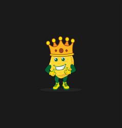 King smile potato vector