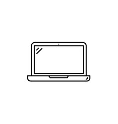 laptop line icon in flat style for app ui vector image
