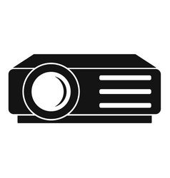 Lesson projector icon simple style vector