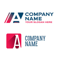 logotypes with letter a vector image