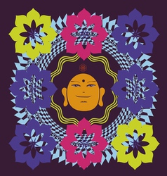 Lotus Buddah poster vector