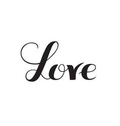 love lettering elegant hand drawn inscription vector image