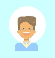 Male cry emotion profile icon man cartoon vector