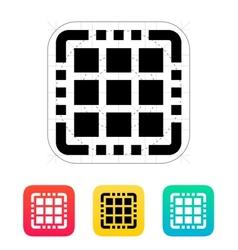Multi Core CPU icon vector