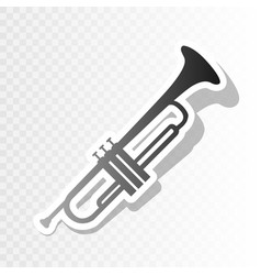 musical instrument trumpet sign new year vector image