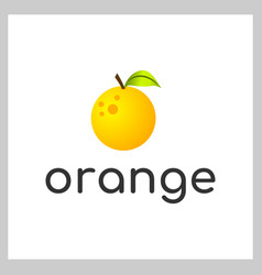 orange logo vector image