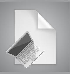 Paper symbol computer vector