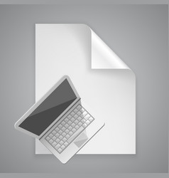 paper symbol computer vector image