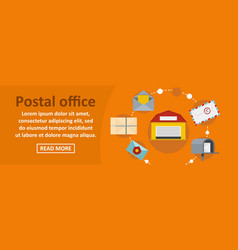 postal office banner horizontal concept vector image