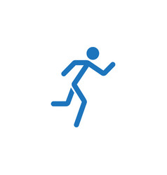 Running man solid icon fast and fitness sport vector