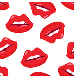 seamless pattern female sexy lips vector image