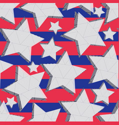 seamless pattern of stars vector image