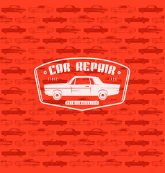 Seamless pattern with image of retro cars vector