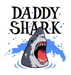 shark t shirt 001 vector image