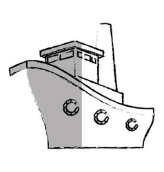 Ship boat cruise icon vector