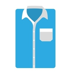 Shirt male isolated icon vector