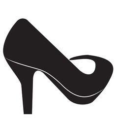 Silhouette of the women shoes vector image