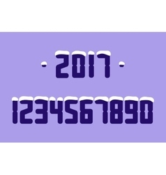 Snow Numbers vector image