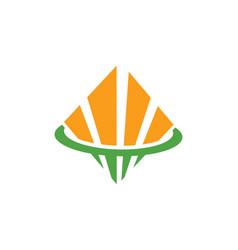 Square shape business finance logo vector