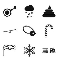 Stealth icons set simple style vector