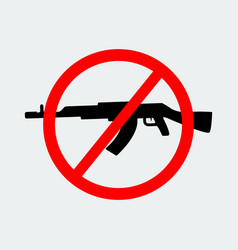 stop terror with sign black gun icon vector image