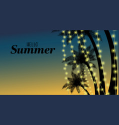 summer holiday banner with tropical backgrounds vector image