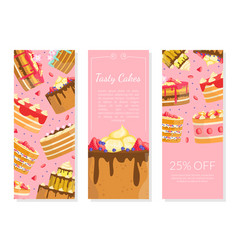 tasty cakes special offer bakery shop sweet vector image