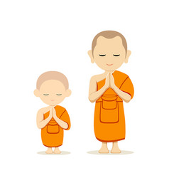 Thai monks and thai novice collections vector