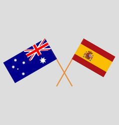 the australian and spanish flags vector image